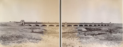 Panoramic view of aqueduct, [Nadrai Aqueduct, Lower Ganges Canal]. 38744